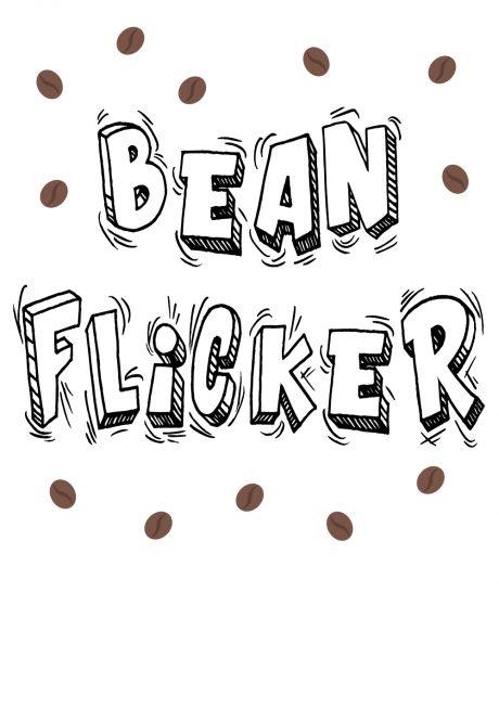 Bean Flicker A4 sex card