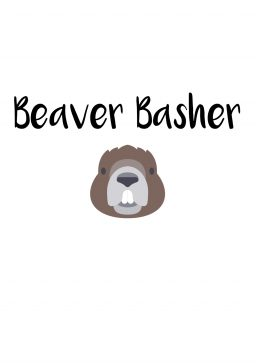 Beaver Basher A4 greetings card