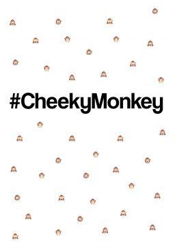 #CheekyMonkey A4 greetings card