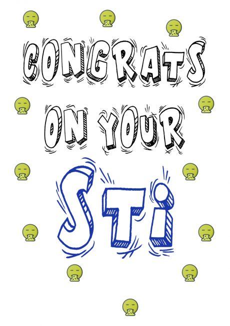 STI A4 greetings card
