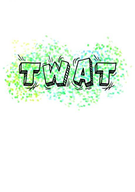 Twat A4 greetings card