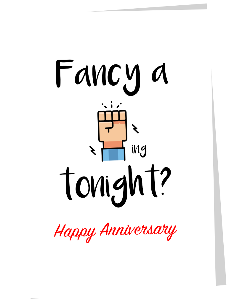 Fancy a Fisting - Rude Anniversary Card